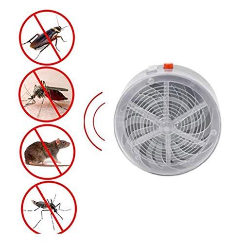 HDJLI Solar LED Fly Killer Insecticida Lámpara, UV Lámpara Repelente Matar Mosquitos Trampas Repelente De Insectos, para Insectos, Mos