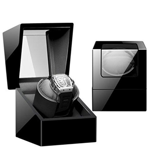 KY Uhrenbeweger Uhr Winder Shaker Schaukel Uhren Uhren Akinematic Tische Mechanische Tische Automatische Wickelkästen Rundtischkästen Aufbewahrungsboxen (Farbe : 1+0H)