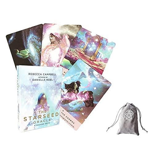 Las Cartas de Tarot de Oracle Starseed, con Bolsa de Almacenamiento de Terciopelo. ,The Starseed Oracle Tarot Cards