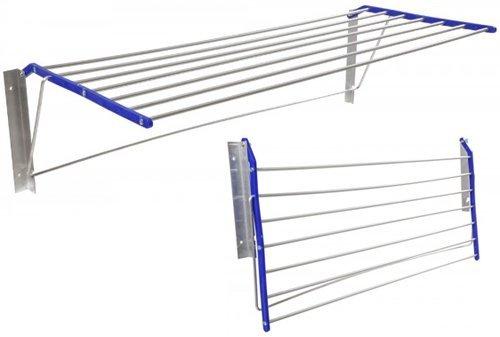 Stendibiancheria Parete Muro struttura Alluminio bracci Resina MURETTO 50X101X34