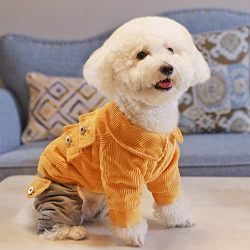 AMURAO Perro cálido Cuatro pies Acolchado de algodón Ropa de Gato otoño Invierno Cachorro Ropa Colorida para Mascotas pequeñas