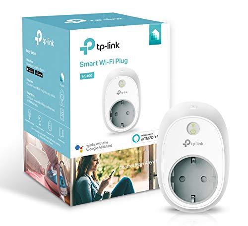 TP-Link Presa Wi-Fi HS100, Smart Plug Compatibile con Alexa e Google Home, Controllo dei Dispositivi Ovunque Mediante Kasa App, Nessun hub esterno necessario (Presa e spina EU)
