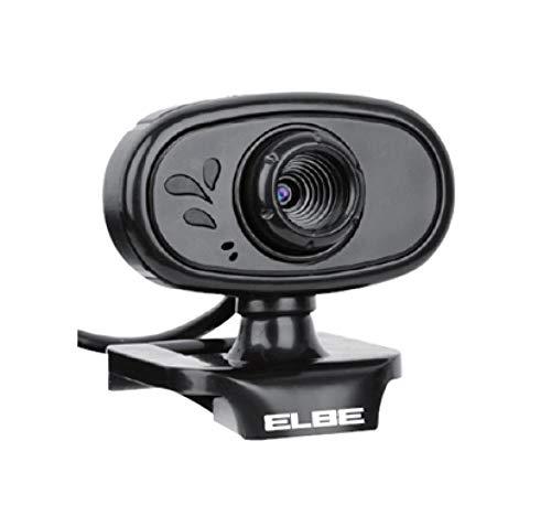 Elbe MC60 - Cámara Web HD para Ordenador, 1280 x 720 Pixels, Windows y Mac, Corrección de Luz Automática, Negro