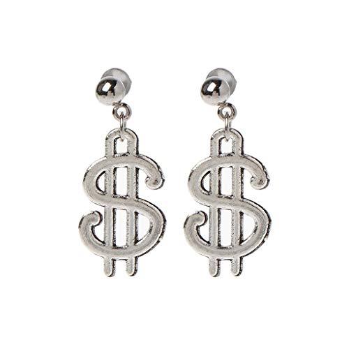 GUMEI Orecchini Pendenti da Donna con Motivo di valuta e Banconote da 100 Dollari
