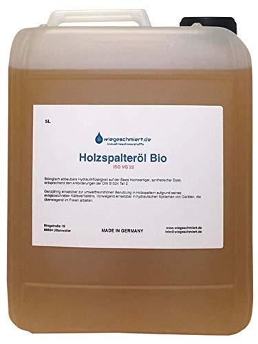Knaus Schmierstoffe Hydrauliköl Bio HEES 22 5 Liter, Bio Holzspalteröl