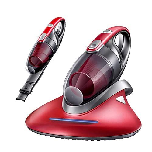 GXXDM Aspirador de colchón UV de Mano, potentes succiones Que eliminan eficazmente los ácaros del Polvo Ocultos en colchones, Almohadas, Cortinas, sofás y alfombras Rojo