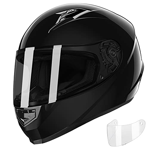 GLX Unisex-Adult GX11 Compact Lightweight Full Face Motorcycle Street Bike Helmet with Extra Tinted...