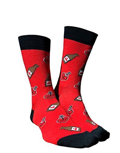 ASTRA Freizeitsocken Urtyp, rot, für Damen & Herren, coole Socken aus St. Pauli (43-46)