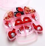 MINGMING El gato en forma de corazón caja de lazos para niños Horquillas
