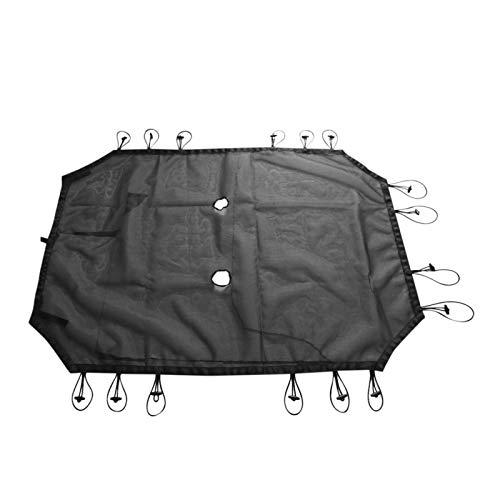 DAXINYANG Colorful Linght Black Sun Shade Full Nylon Malla Superior PROTECCIÓN PROTECCIÓN Cubierta Suave AISLACIONES DE Calor Ajuste para Jeep Wrangler (Color : For 4door)