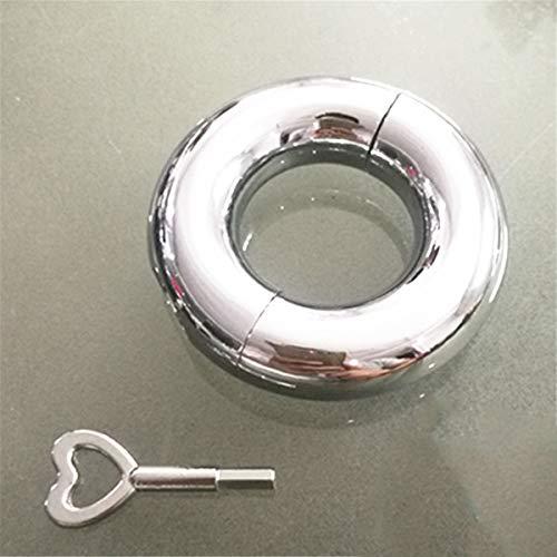 Penis Ring Cock Ringe Edelstahl Mannes Schwanz Ring Enhancer Keuschheit Ringe Mit Schraubenschlüssel Und Schraube Metall Hodensack Anhänger Cock Ring Hodenring,33mm