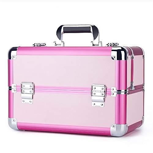 PN-Braes Cas cosmétique Voyage Maquillage Sac Motif Maquilleur Cas Cas Train Boîte Cosmétique Organisateur De Stockage Stockage de Maquillage (Color : Pink)