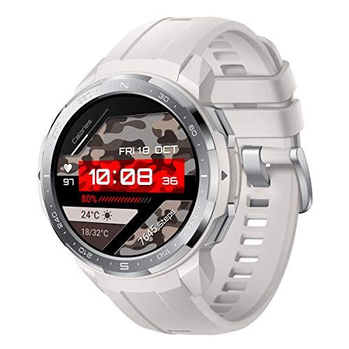 HONOR Watch GS PRO - Smartwatch Multisport con 25-Giorni Batteria Durata, Certificato Standard Militare, GPS, 1,39 Pollici AMOLED, IP68, Monitoraggio della frequenza cardiaca, Bianca