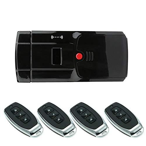 Smart deurslot, ontgrendelen met vingerafdruk wachtwoord, draadloze anti-diefstal sleutelloze elektronische smart deurslot, waaronder vier op afstand,2