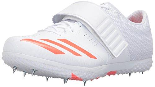 Adidas Adizero Hj - Zapatillas de Running Unisex con Pinchos, Color Blanco, Talla 49,5 EU M
