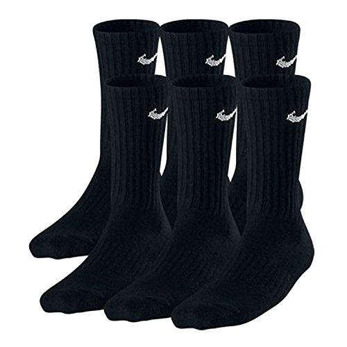 Nike Boys Crew Socks - 6 Pair Black
