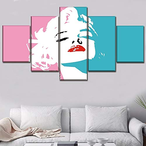 wanmeidp Modular Canvas Painting HD Prints Canvas Art Madonna Celebrity Poster Wall Pictures Home Decoration Art Canvas Frameless