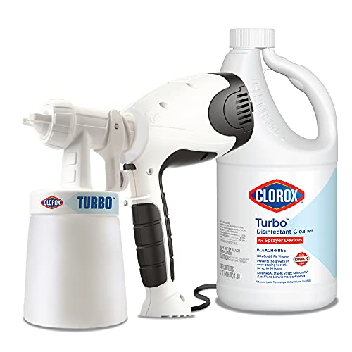 Clorox Turbo Power Sprayer and Disinfectant Cleaner 64oz Bundle