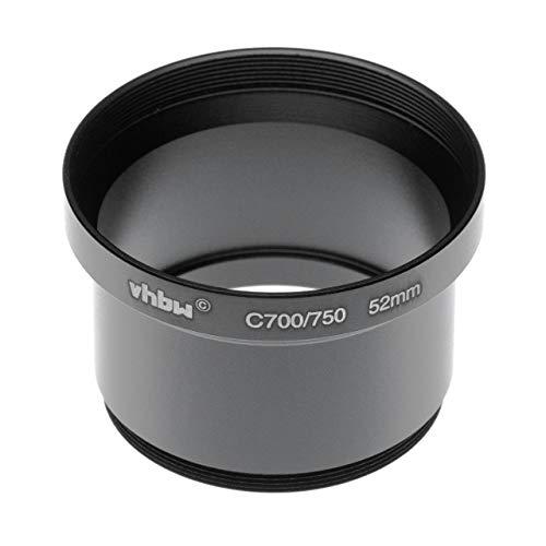 vhbw Adaptador de Filtro 52mm en Forma de Tubo para cámara Digital Reflex Objetivo Compatible con Olympus SP-500 UZ, SP-510 UZ- Negro