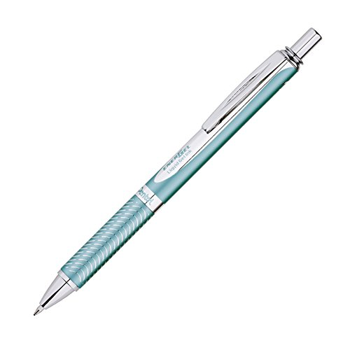 Pentel EnerGel Alloy RT Premium Gel Ink Pen 07mm Aquamarine Barrel Black Ink 1 Pack BL407LSBPA