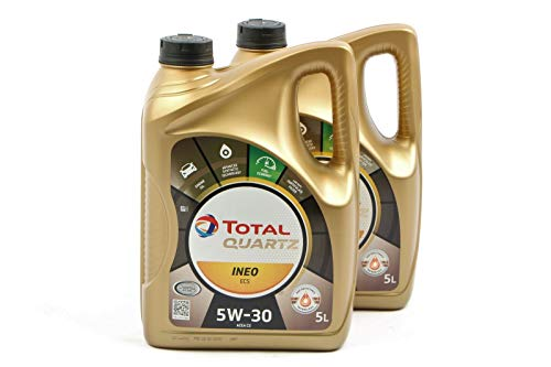 2pz olio lubrificante total ineo quartz ecs 5w-30 5 litri