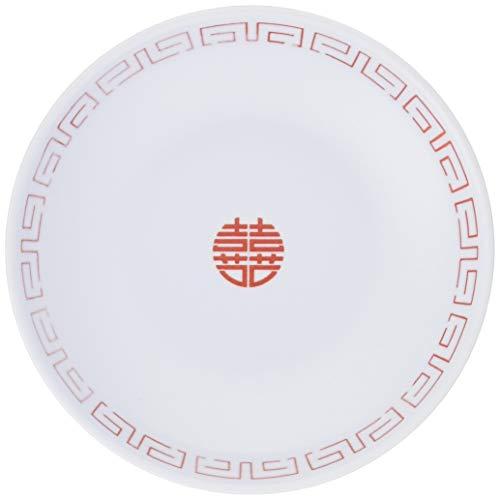 ENTEC 中華小皿 白/赤 瑞祥 CA-41