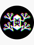 Memetic Warfare KEK Frog -RGB - Sticker Graphic - Political Funny Bumper Sticker for Cars Windows Trucks