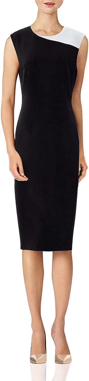 Roey s house Women's Business Wear Work Office Sheath Dress Knee Length Little Black Dress