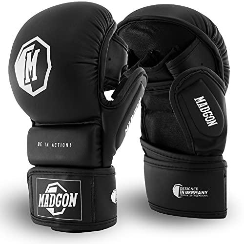 Martial MMA Sparring Handschuhe aus bestem Material für Lange Haltbarkeit! Boxhandschuhe mit extra Dicker Polsterung für Sparring, Kampfsport, Boxen, Kickboxen, MMA - inkl Beutel!