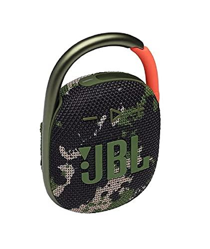 JBL CLIP 4 Bluetooth Speaker, USB C Charging, IP67 Dustproof, Waterproof, Passive Radiator, Portable, 2021 Model, Squad / Camouflage JBLCLIP4SQUAD