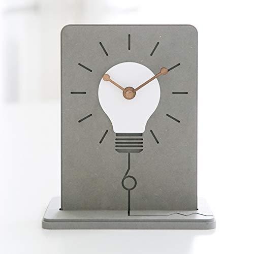 LIHUAN Reloj De Sobremesa Salón De Reloj De Mesa Decoración Simple Péndulo Reloj Creativo Pequeño Reloj,Grey