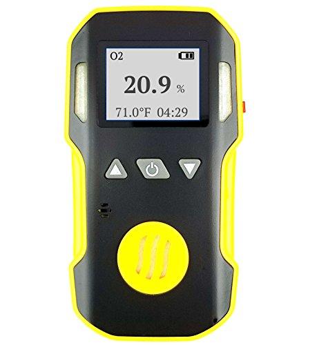 auerstoffdetektor von FORENSICS, einstellbarer Schall-, Licht- und Vibrationsalarm, Sauerstoffmessgerät 0-30% Bereich