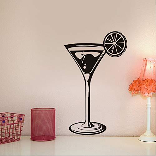 Zfkdsd Weinglas Cafe Kunst Glas Vinyl Wandaufkleber Schablone Wohnzimmer Küche Indoor Wandkunst Dekor Diy Abnehmbare Aufkleber Dekoration 56 * 94 Cm