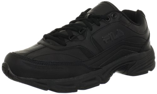 Black Leather Tennis Shoes for Men
