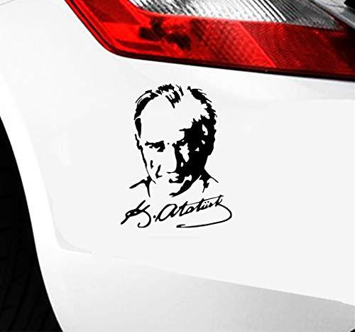 Tattoo Auto Aufkleber 19.4x15Cm Auto Aufkleber Mustafa Kemal Ataturk Unterschrift Decals Zubehör Aufkleber für Auto Laptop Fenster Aufkleber