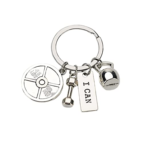 Inspirational Fitness Gifts Gym Accessories for Women Girls Men Boys Stainless Steel Workout Gift Keycahin