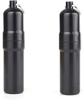 Jixista Portasigarette in Alluminio Portasigarette Portatile cilindrico con Portachiavi Mini portasigarette in Lega di All...