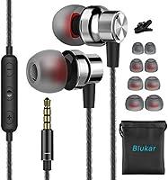 Blukar Écouteurs Intra-Auriculaires, Écouteurs Intra-Auriculaires Filaires avec Microphone & Contrôle du Volume, Deep...