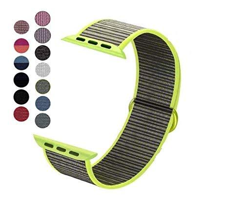 Dapo-Correa Compatible con Watch Sport Loop 38/40mm 42/44mm, Correa de Reemplazo de Nylon Suave Transpirable Compatible con Series 5/4/3/2/1 (38/40mm, Verde-Gris)