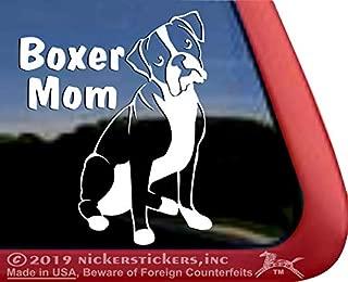 Boxer Mom Vinyl Dog Window Auto Decal Sticker