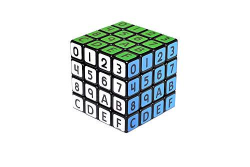 Cubexa Magique Cube, Puzzle, Version Hexadécimale 4x4x4, 6.2 cm, ABS Plastique, De Nouveaux Défis Vous Attendent avec Ce Cube, Très Apprécié en Compétition.