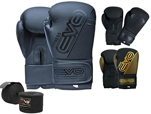 EVO MAYA Leder Boxhandschuhe MMA Boxsack Sparring Kickboxen Training Handschuh