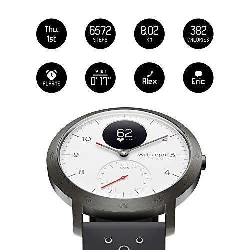 Withings Steel HR Sport Hybrid Smartwatch (40mm) - Activity, Sleep, Fitness and Heart Rate Tracker with Connected GPS, Smart Notifications, Water Resistant with 25-Day Battery Life 7
