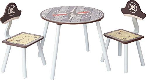 IB-Style - Kindersitzgruppe PIRATE - Stuhl Truhenbank Tisch | 3 Kombinationen | 2x Kinderstuhl 1x Kindertisch