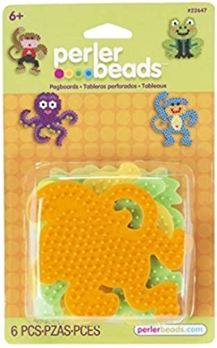 Perler Beads - 4 assorted pegbaords (frog monkey octopus dog) (PRL22647) by Perler by Perler