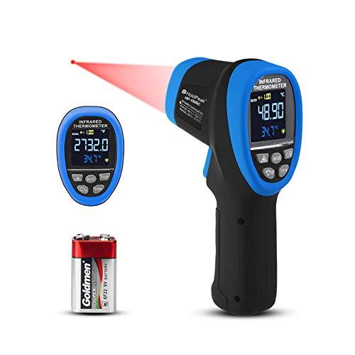 【Non Per Umani】Pirometro Digitale a Infrarossi Termometro a Infrarossi ad Alta Temperatura Gun -58~2732°F Termometro IR senza Contatto con D:S=30:1 Emissività Regolabile Max/Min per l'industria