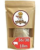 Estuche de Tripas de Cerdo 36/38 Wengler (18M) Equiparable a Las de carnicería - Resistente a la cocción - Apto para ahumar y Barbacoa