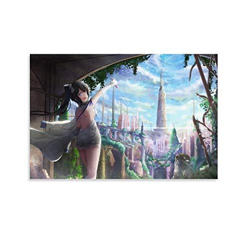 Danmachi Poster auf Leinwand, Heimdekoration, japanisches Anime-Poster für Wohnzimmer, ästhetisch, 60 x 90 cm, 3 Stück