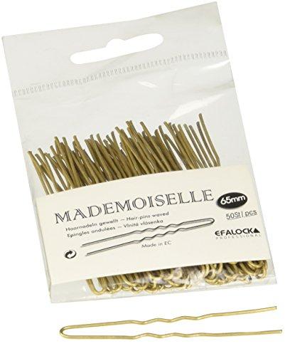 Efalock Professional Mademoiselle Haarnadel, 65 mm, gold, 1er Pack, (1x 50 Stück)