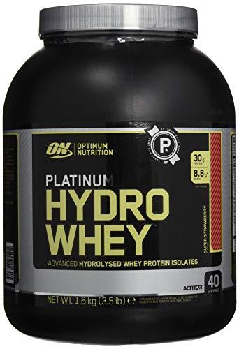 Optimum Nutrition ON Hydro Whey Protein Isolat Pulver, Eiweißpulver Reich an Essentiellen Aminosäuren Komplex und BCAA, Strawberry, 40 Portionen, 1,6 kg